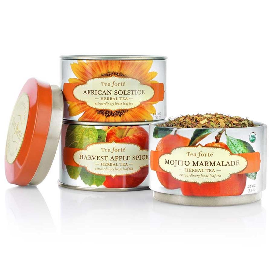 Gourmetfoodstore Com Tea Forte Trio Herbal Teas Loose Leaf Tea