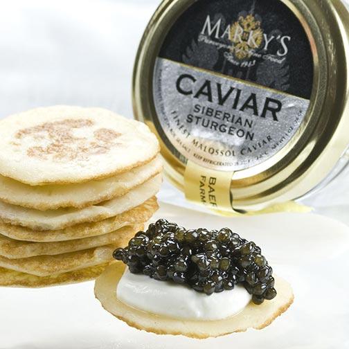 French osetra baerii siberian caviar gift set gourmet