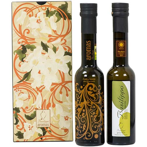 "Orange & Arbequina ""Gourmet"" Extra Virgin Olive Oil - Gift Set"