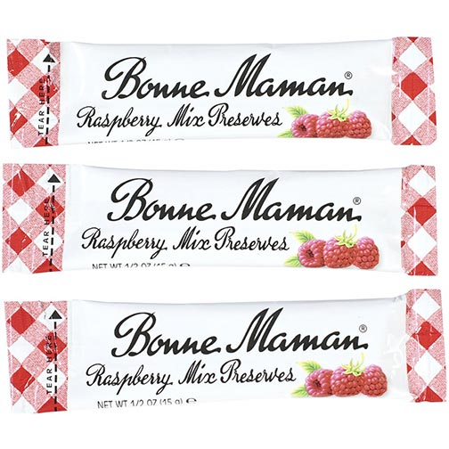 Bonne Maman Raspberry Mix Preserves - Portion Sticks