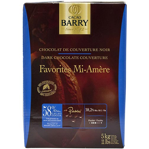 Cacao Barry Dark Chocolate - 58% Cacao - Cacao - Favorites Mi-Amere