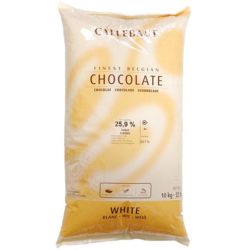 Belgian White Chocolate Baking Callets (Chips)