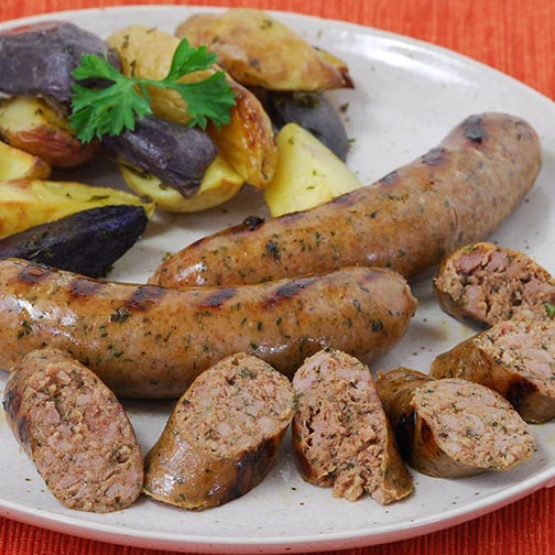 Duck Bacon Sausage with Jalapeños | Gourmet Food Store