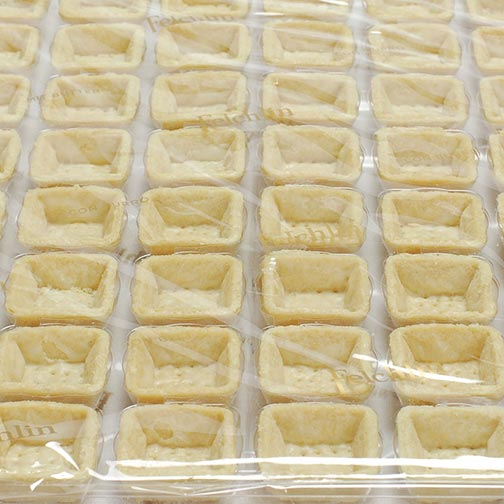 Square Pastry Tart Shells - Neutral - 1.5 Inch