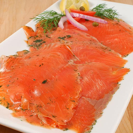 Norwegian Gravadlax Smoked Salmon Trout Superior - Sliced