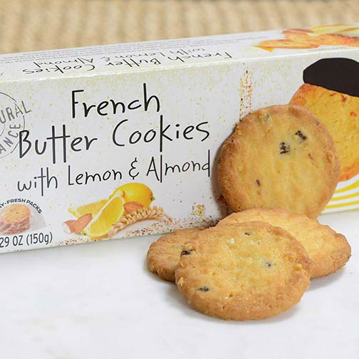 French Butter Cookies with Lemon and Almond