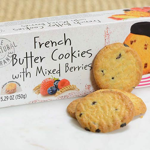 French Butter Cookies with Mixed Berries