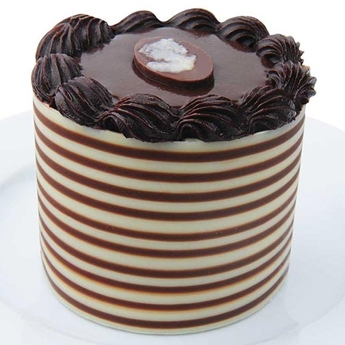 Chocolate Ribbon Mousse Cake