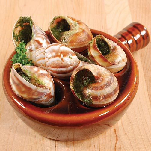 Ceramic Escargot Plate with Handle