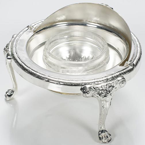 Silver Plated Caviar Server - Dome Shaped - 4 oz capacity