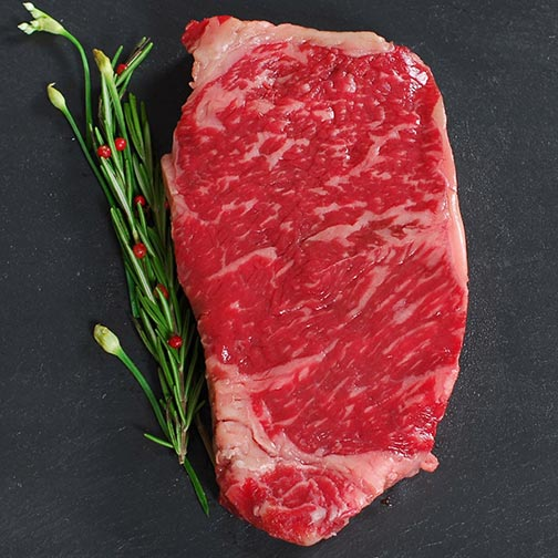 Wagyu Beef New York Strip Steak - MS5, Whole, Cut To Order