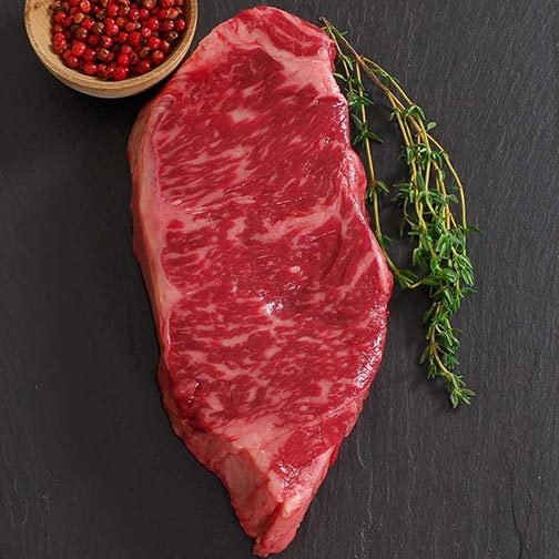 Wagyu Beef New York Strip Steak - MS7 - Whole, Cut To Order