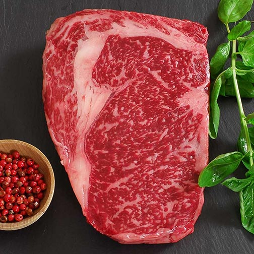 Wagyu Beef Rib Eye Steak - MS8 - Whole, Cut To Order