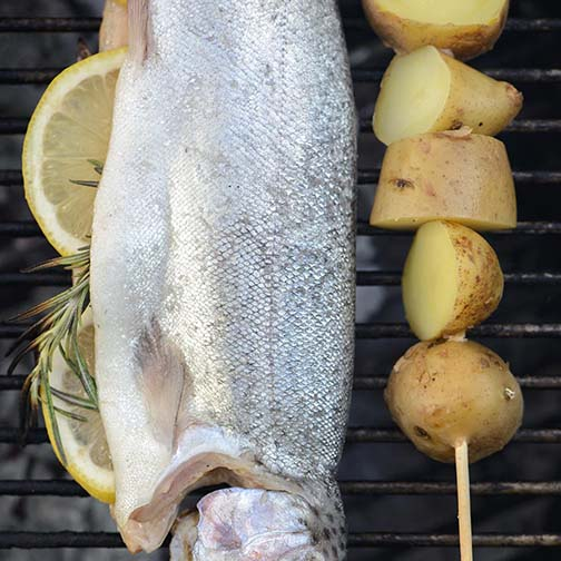 Grilled Trout With Salsa Verde Sauce Recipe