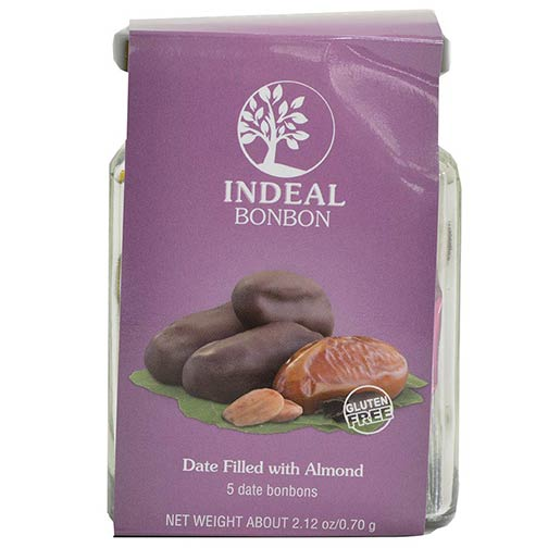 Chocolate Covered Dates Filled with Almonds