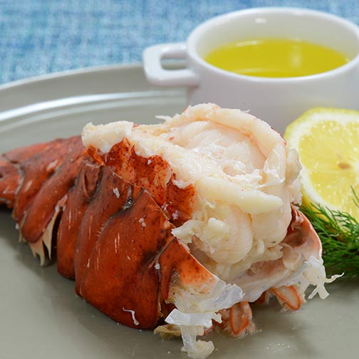 Lemon Butter Boiled Lobster Tails Recipe