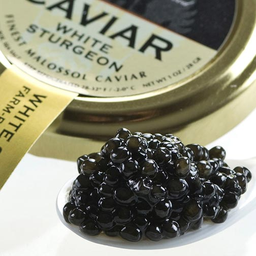 American Osetra White Sturgeon Caviar - Malossol, Farm Raised