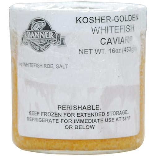 Kosher Golden Whitefish Caviar - Orthodox Union