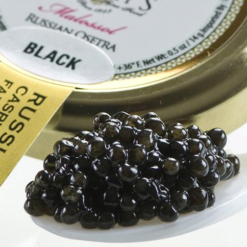 Osetra Karat Black Russian Caviar - Malossol, Farm Raised