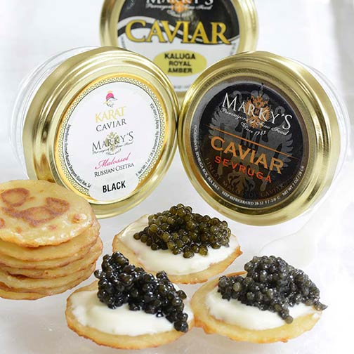 Osetra, Sevruga and Kaluga Caviar Taster Set