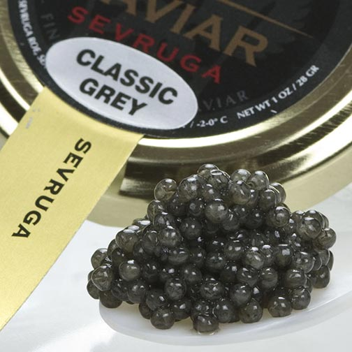 Sevruga Classic Grey Caviar - Malossol, Farm Raised