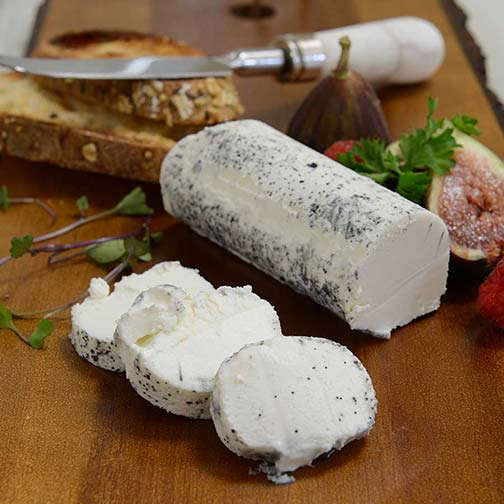 Goat's Milk Log With Ash (Buchette de Chevre Cendree)