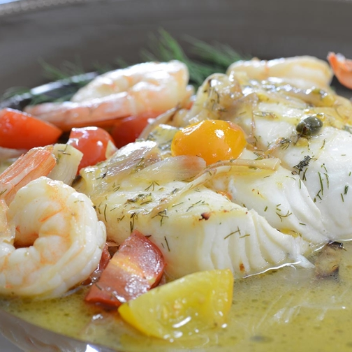 Sauted Halibut In Lemon Butter Wine Sauce Recipe | Gourmet Food Store
