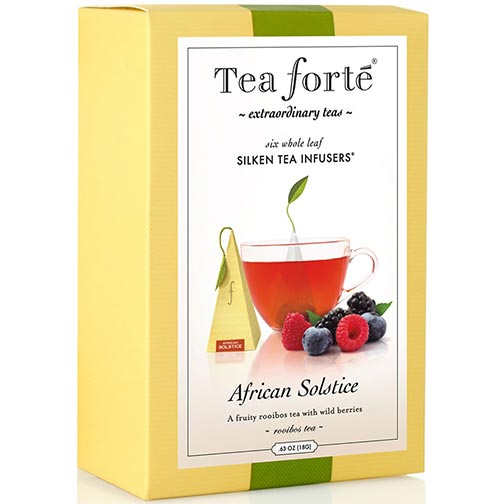 Tea Forte African Solstice Herbal Tea - Pyramid Box, 6 Infusers