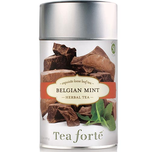 Tea Forte Belgian Mint Herbal Tea - Loose Leaf Tea