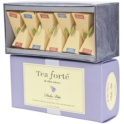 Tea Forte Dolce Vita Collection - Ribbon Box, 20 Infusers