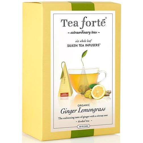 Tea Forte Ginger Lemongrass Herbal Tea - Event Box, 48 Infusers