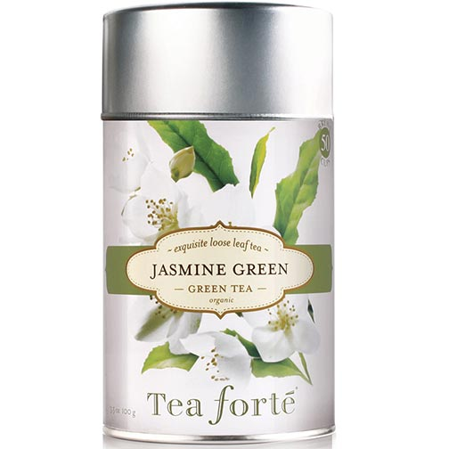 Tea Forte Jasmine Green Green Tea - Loose Leaf Tea Canister