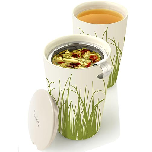 Tea Forte Kati Loose Tea Cup - Spring Grass White