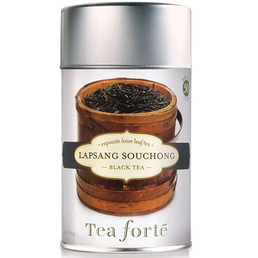Tea Forte Lapsang Souchong Black Tea - Loose Leaf Tea Canister