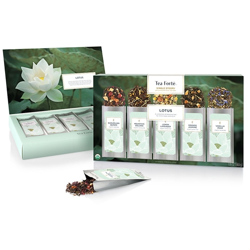 Tea Forte Lotus Loose Leaf Tea Single Steeps