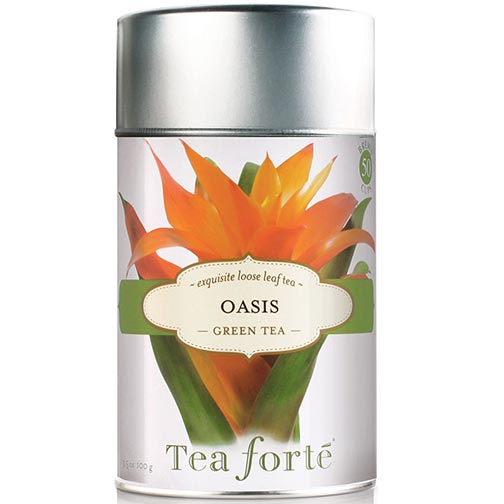 Tea Forte Oasis Green Tea - Loose Leaf Tea Canister