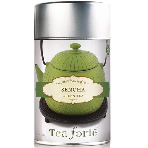 Tea Forte Sencha Green Tea - Loose Leaf Tea Canister