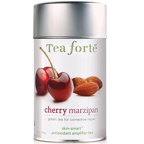 Tea Forte Skin Smart Cherry Marzipan Green Tea -  Loose Leaf Tea Canister