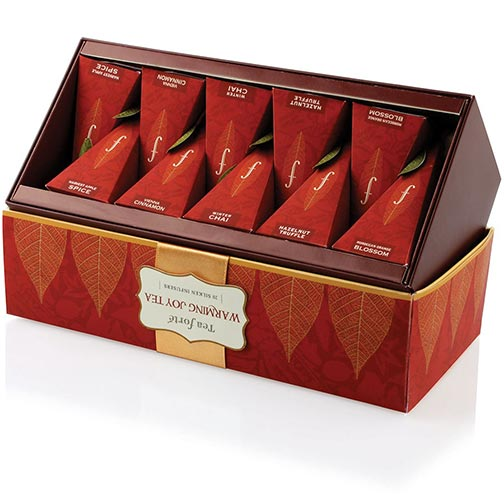 Tea Forte Warming Joy Collection - Ribbon Box, 20 Infusers