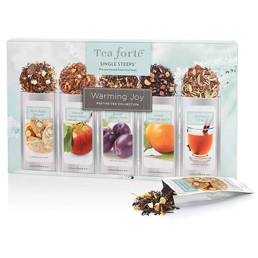 Tea Forte Warming Joy Sampler Loose Leaf Tea Single Steeps
