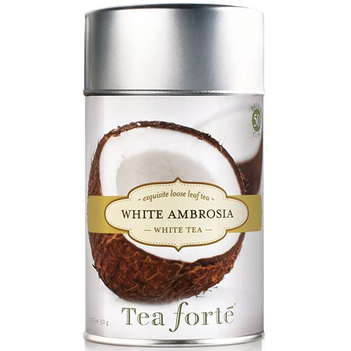 Tea Forte White Ambrosia White Tea - Loose Leaf Tea Canister