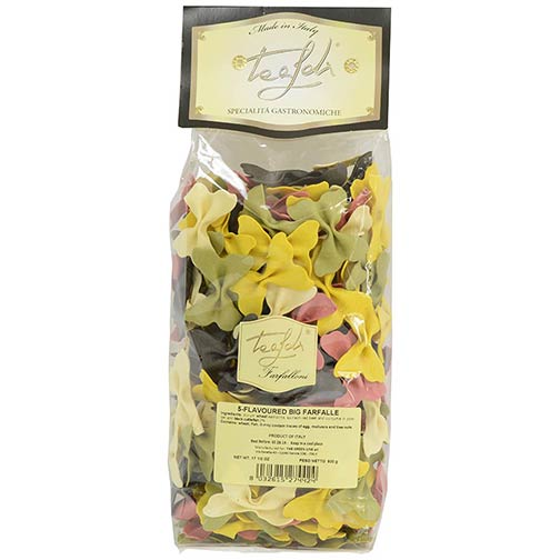 5 Flavored Large Farfalle Pasta
