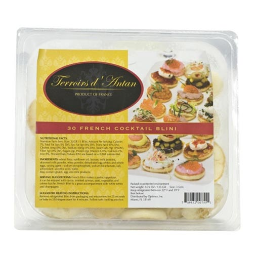 French Cocktail Blinis - 30 count