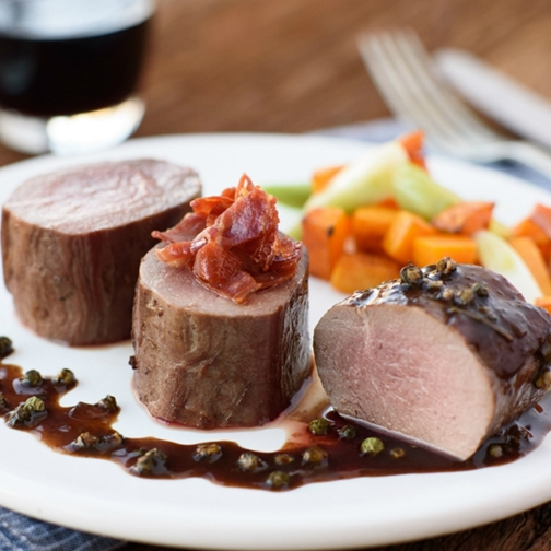 Venison Tenderloin In Peppercorn Sauce Recipe | Gourmet Food Store