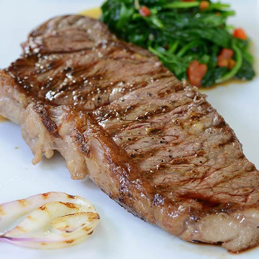 Wagyu Beef Center Cut New York Strip Steaks MS3 | Gourmet Food Store