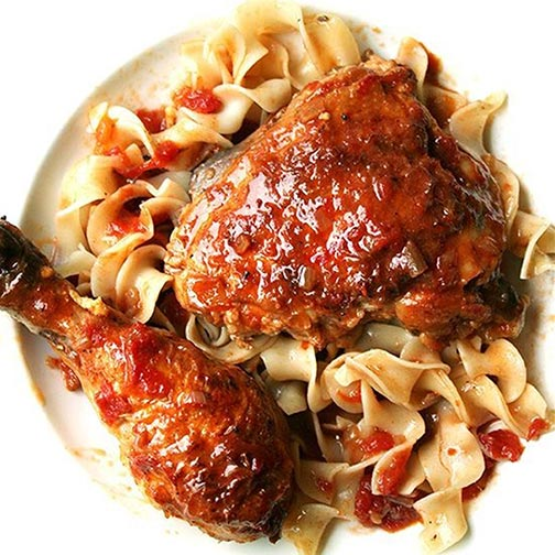 Braised Chicken With Sherry and Sherry Vinegar