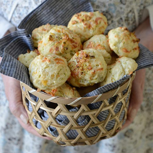 Cheddar and Zucchini Biscuits