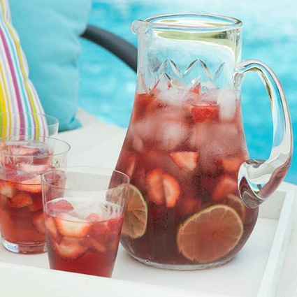 Rose Water, Lime and Strawberry Wine Sangria