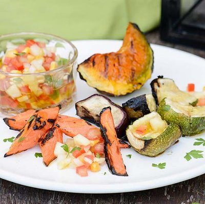 Veggies On The Grill With Pineapple Creole Sauce Recipe