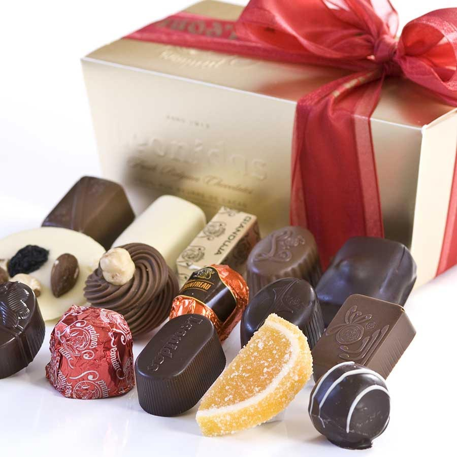 Belgian Chocolate Assortment - Mixed in Ballotin Gift Box by ...